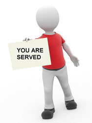 You are served process server services image